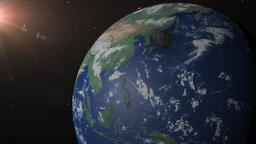 Asteroid crashes into earth near Beijing China Animation