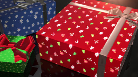 christmas birthday blue red and green gift animation Animation