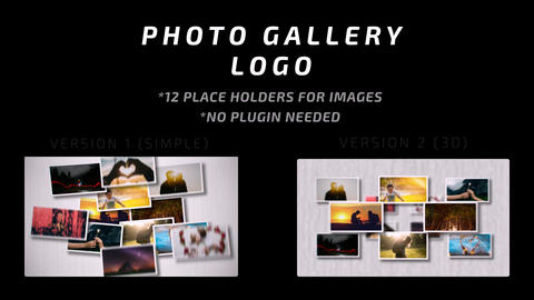 Photo gallery logo After Effects Template