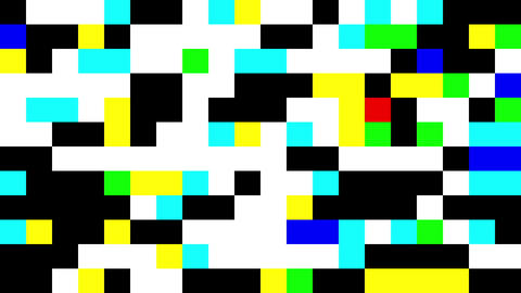 Square Pixels Texture of Colours and Black Archivo