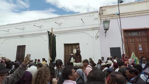 Religious procession in carnival Archivo