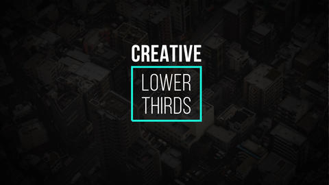 Creative Lower Thirds Motion Graphics Template