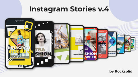 Instagram Stories v 4 After Effects Template