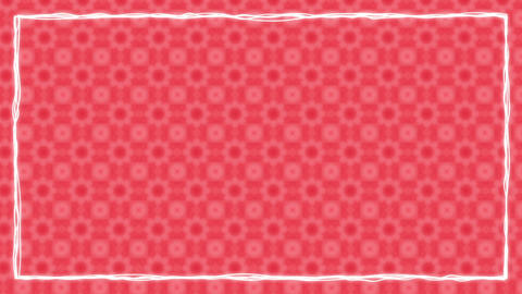 Red Texturized Animated Border Frame Animation