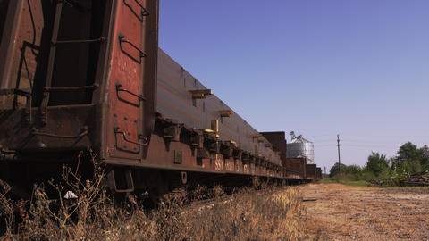 Old Train and Silo Footage
