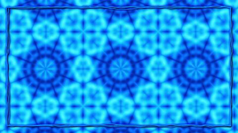 Blue Animated Texturized Ornament With Black Border Frame Animation