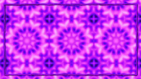 Purple Animated Texturized Ornament With Black Border Frame Animation