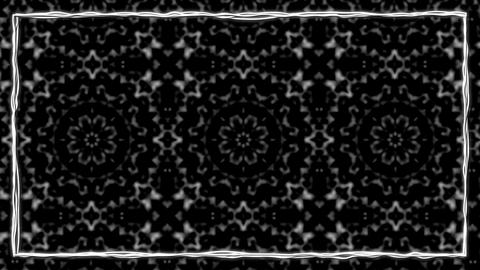 Dark Gothic Animated Texturized Ornament With Black Border Frame Animation
