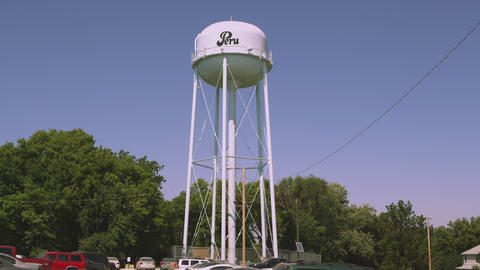 Static shot of water tower in Nemaha County, Nebraska Footage