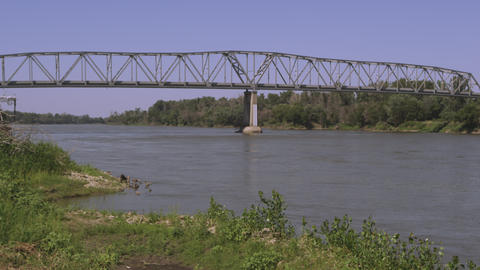 Static view of bridge over the Missouri River Footage