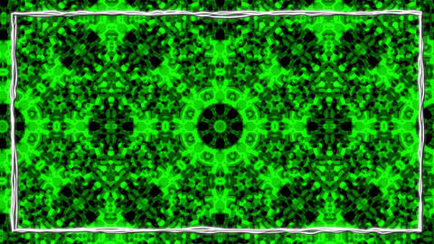 Green Animated Texturized Ornament With Black Border Frame Animation