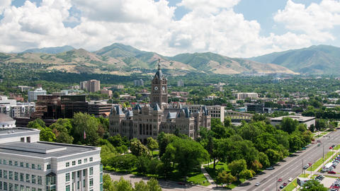 Salt Lake City, County Building Timelapse Footage