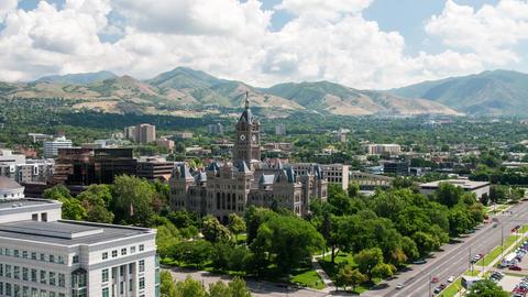 Salt Lake City, County Building Timelapse Footage