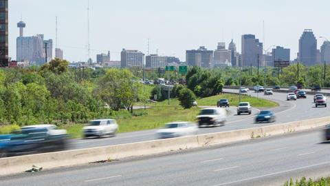 Sn Antonio Cityscape/Freeway Timelapse Footage
