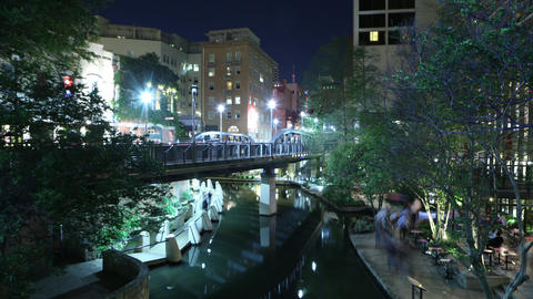 San Antonio River Walk Timelapse Footage