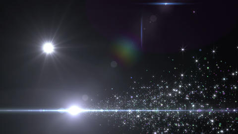 Lens Flares and Particles 16 A4 4k CG動画