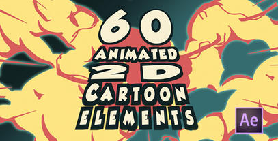 2d Cartoon FX Pack 60 Different Elements After Effects Template After Effect