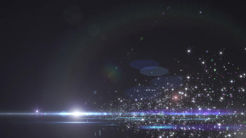 Lens Flares and Particles 16 E4 4k Animation