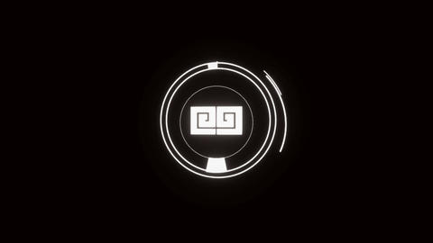 2D Flat Glow Logo Opener After Effects Template