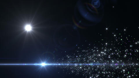 Lens Flares and Particles 16 J4 4k Animation