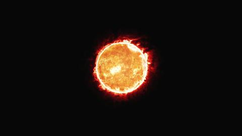 太陽 CG動画素材