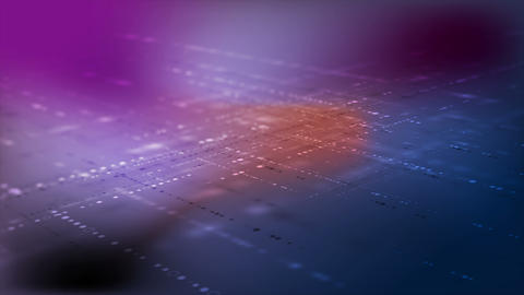 Hi-tech futuristic abstract dots particles motion background Animation