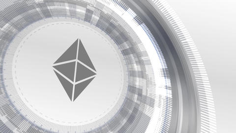 ethereum cryptocurrencyicon animation white digital elements technology Animation
