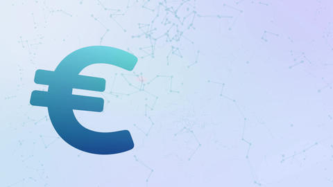 euro currency icon animation bubbles splatter morphing elements Animation