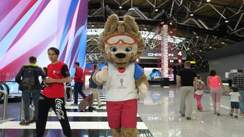 Official mascot of the 2018 FIFA World Cup Zabivaka Live Action