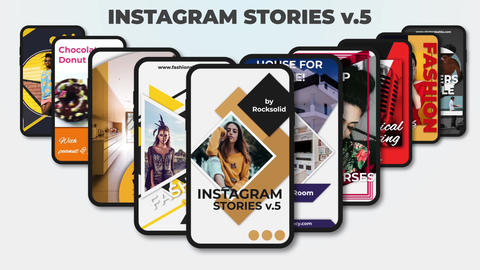 Instagram Stories v 5 After Effects Template