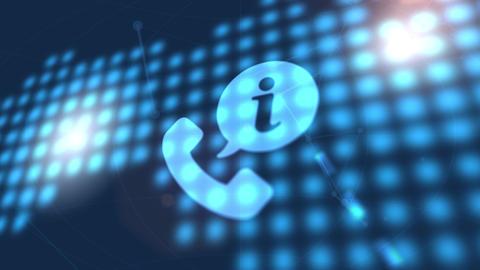 phone communication icon animation blue digital world map technology background Animation