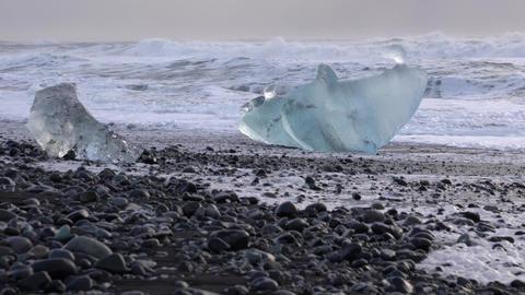 Diamond Beach Joekulsarlon, Iceland Footage