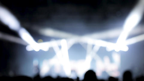 Strobing stage lighting at a music festival Footage
