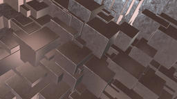 Seamless looping 4K abstract rotating cube animation Stock Video Footage