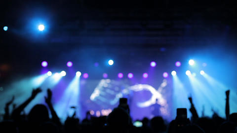 Beautiful cold strobe lights at a music concert Footage