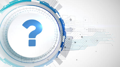 question mark sign faq icon animation white digital elements technology Animation