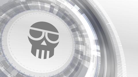 scam cryptocurrencyicon animation white digital elements technology background Animation