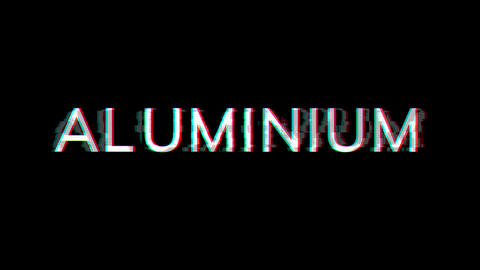 From the Glitch effect arises Element of periodic table ALUMINIUM. Then the TV turns off. Alpha Animation