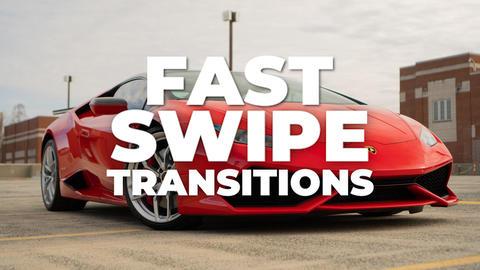 Fast Swipe Transitions Premiere Proテンプレート