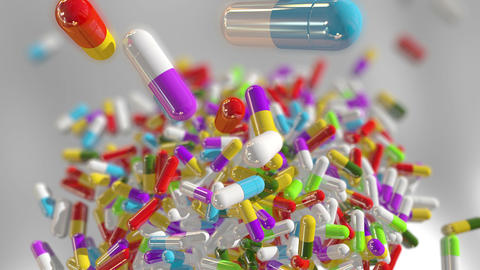 Multicolored Medical Pills Animation