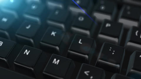 Animation close up computer keyboard with Win Button Stock Video Footage