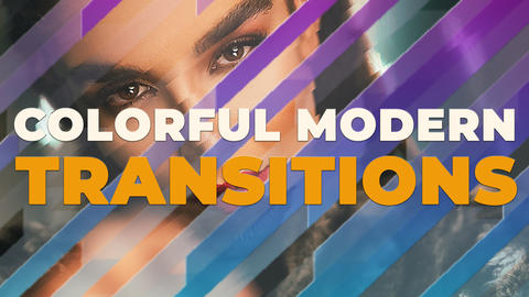 Colorful Modern Transitions Premiere Pro Template
