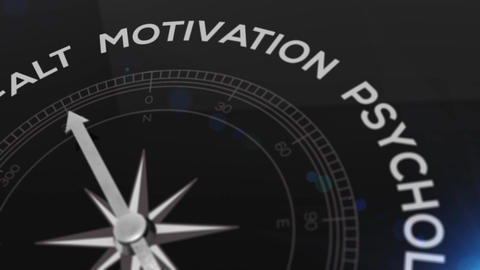 Compass with text - Fuehrung- german word for leadership... Stock Video Footage
