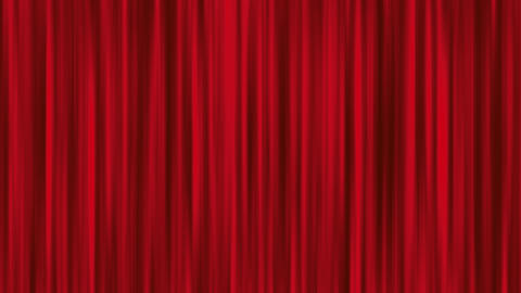 Red Animated Curtain Show Stage Animation