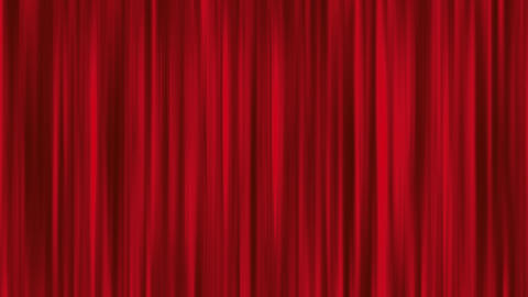Red Animated Curtain Show Stage Stock Video Footage