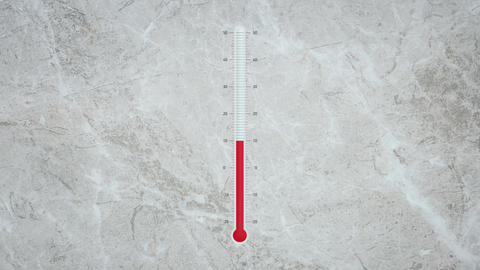 Thermometer with degrees temperature changes hot and cold Animation