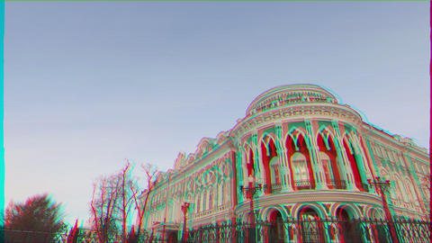 Glitch effect. House Sevastyanov (House of Trade Unions) Yekaterinburg, Russia Live Action