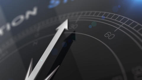 Compass with the text STRATEGY right path, concept video…, Stock Animation