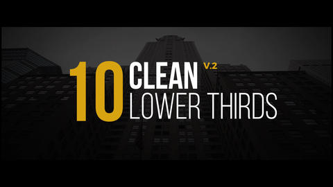 Clean Lower Thirds v2 Motion Graphics Template