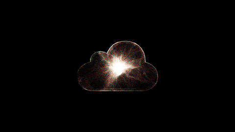 Explosion with particles in cloud object Footage